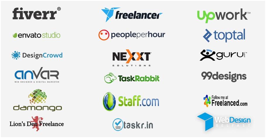 Create a profile on freelancer or upwork or fiver